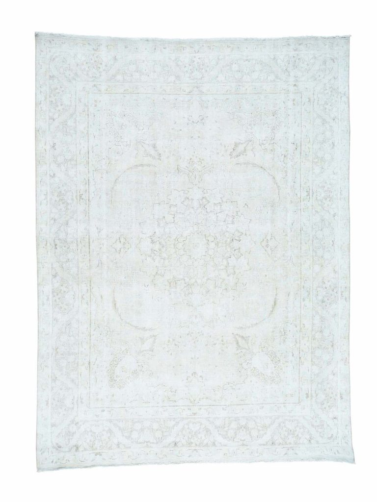 white wash kerman rug