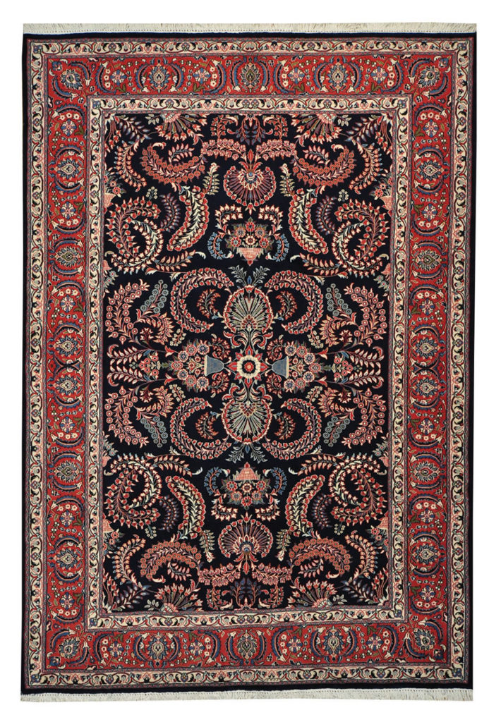 SIGNED FINE PERSIAN SAROUK ORIENTAL RUG HAND KNOTTED 100% WOOL