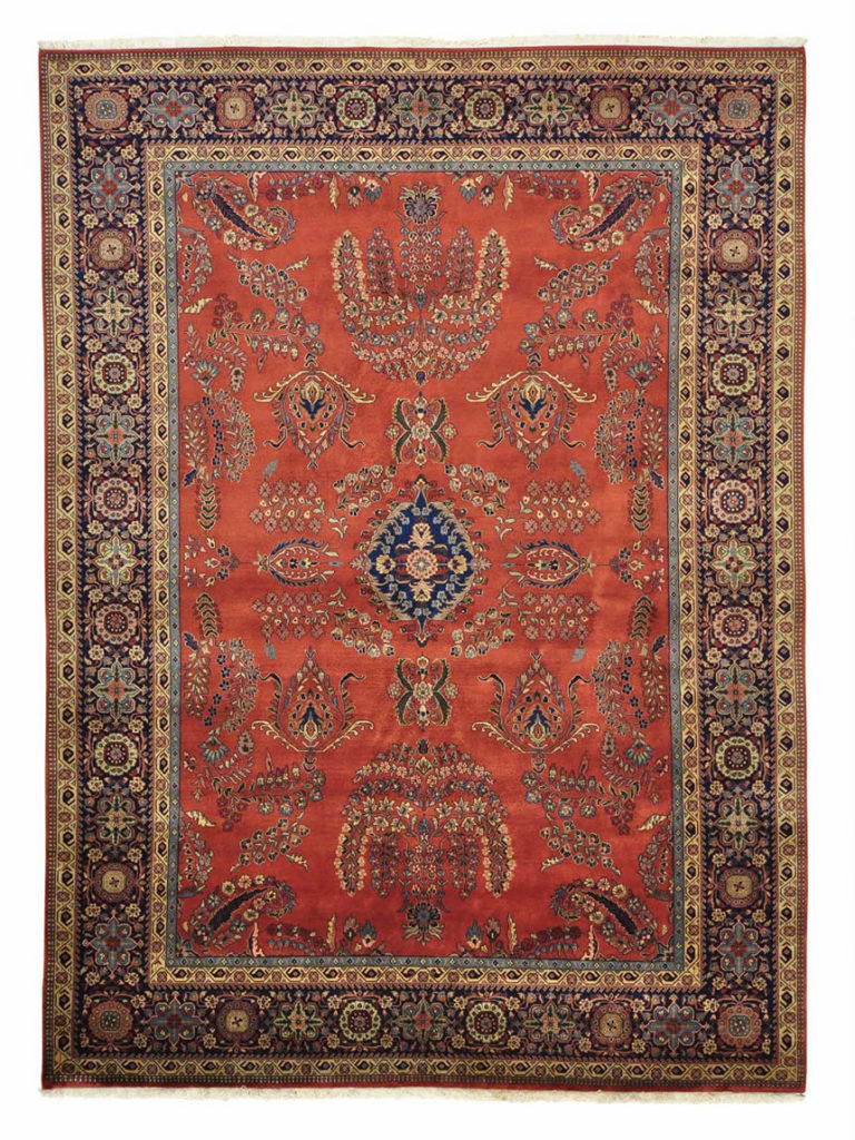 RUST RED HANDMADE ORIENTAL RUG SAROUK FEREGHAN NEW ZEALAND WOOL
