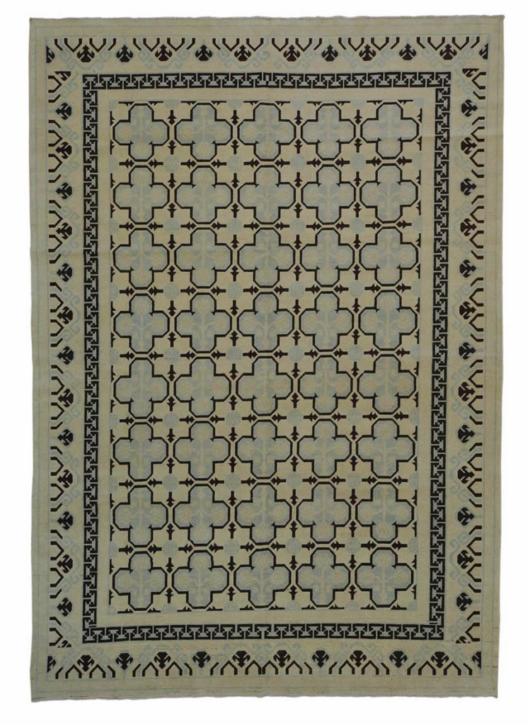 KHOTAN VEGETABLE DYES ZERO PILE ORIENTAL RUG HAND KNOTTED