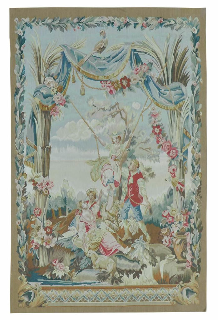 WALL HANGING AUBUSSON TAPESTRY HANDMADE