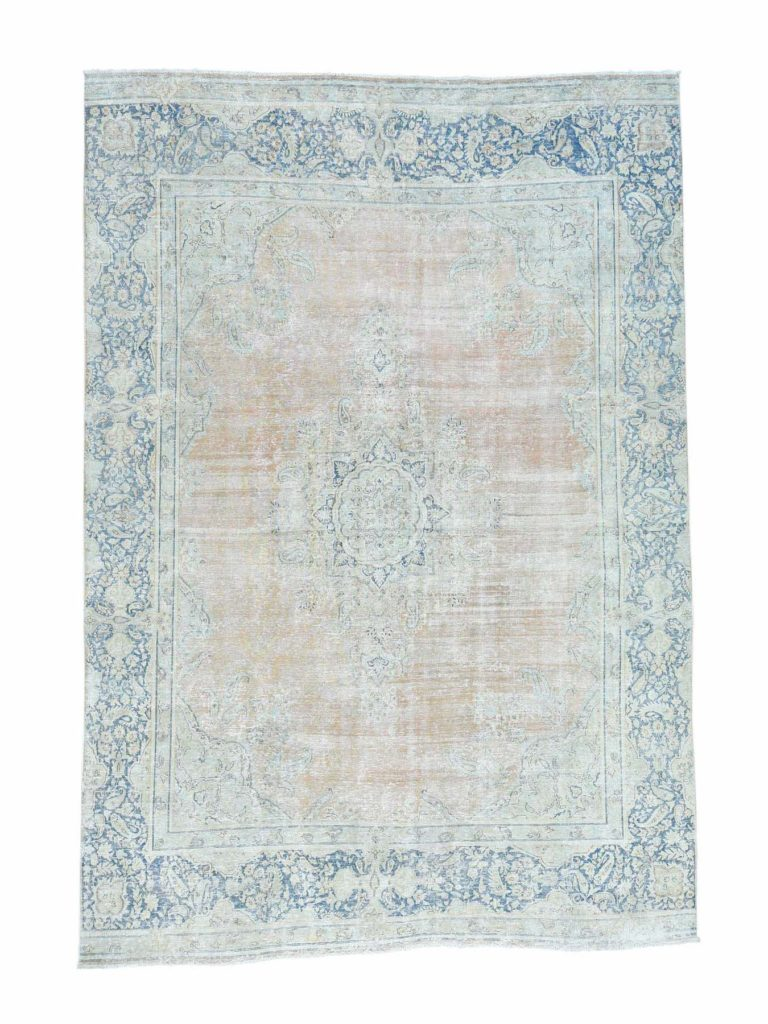 white wash kirman rug