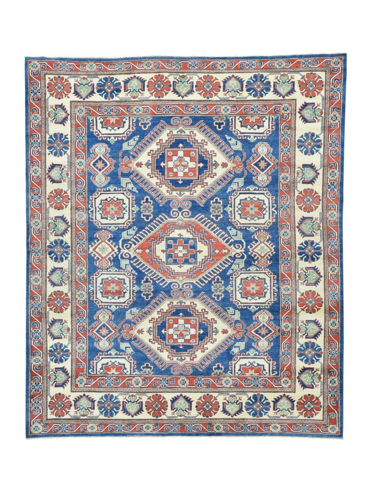 Hand-Knotted Kazak Pure Wool