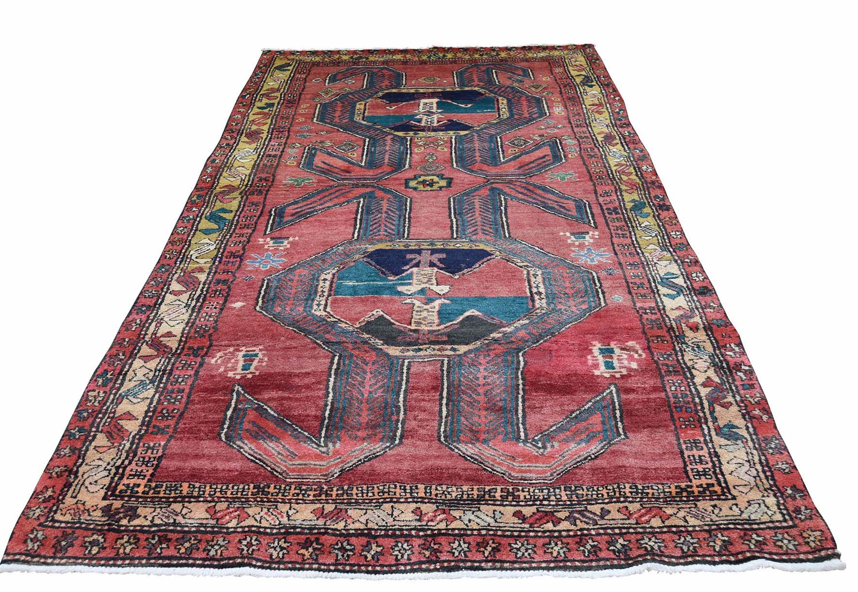 Shah only $325 4'6x10' Vintage Tribal Persian Azari Hand-Knotted Oriental Village Rug
